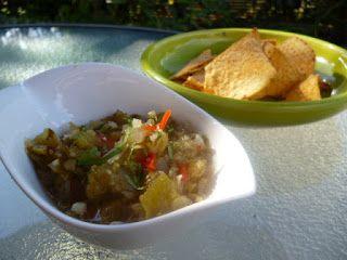 toamatillo salsa dip - Rowan Bishop food writer