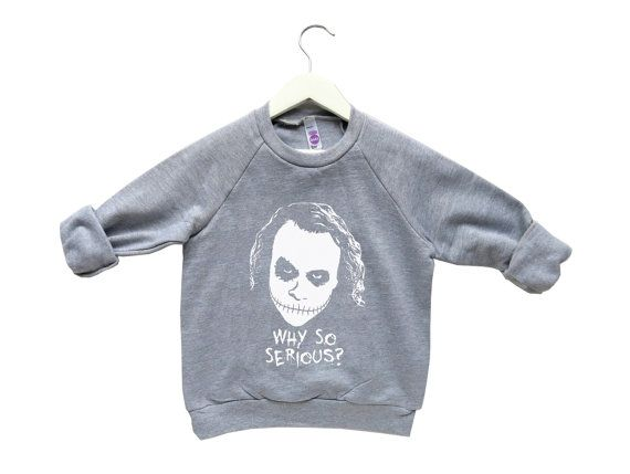 Halloween Kids Costumes, Halloween Toddler Sweatshirt, The Joker Kids Clothing, Heath Ledger The Joker, Why So Serious, Scary Kids Clothes