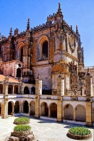 TOMAR PORTUGAL , castle & monastery head-quarter of the order of the knights templar  (1160)