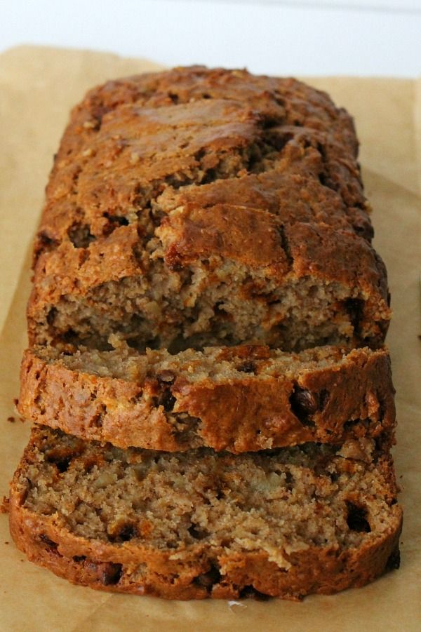 Apple Cinnamon Banana Bread is moist inside and has a delicious flavor with the added ingredients of apples and cinnamon chips!