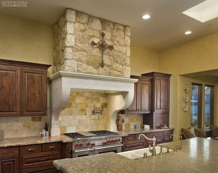#country #style #kitchen #hand #carved #reclaimed #limestone #kitchen #hood French Dalle de bourgogne limestone wall cladding Tuscan wall cladding Canada