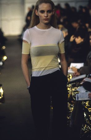 amy wasson in helmut lang in the 90's