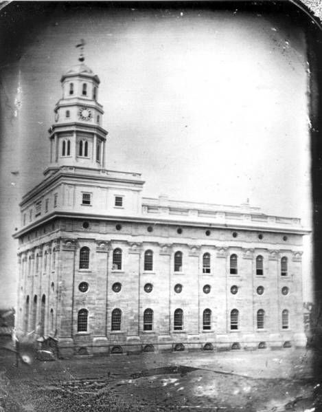 Original Nauvoo Temple in B&W