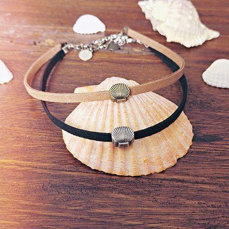 Choker Shell. Fofas para complementar um look de verão