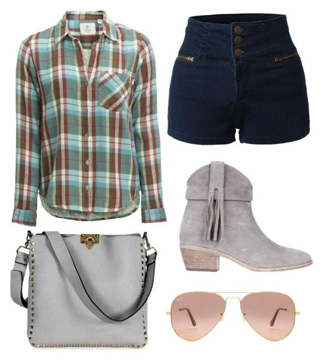 Casual by tracy-aspeling on Polyvore featuring Dylan, LE3NO, Joie, Valentino and Ray-Ban
