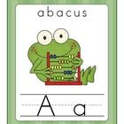 The Fun Frog Alphabet Line (Traditional Print) is a large alphabet line perfect for word walls.  This alphabet line was created with older grades- whenever possible I attempted to use tier 2 and tier 3 words. $4.00