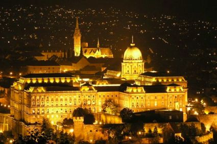 The Royal Palace and Matthias Church create a dramatic night view on top of Buda Hill in Budapest. - See more at: http://travelcuriousoften.com/october13-feature.php#sthash.MFiNEcjz.dpuf