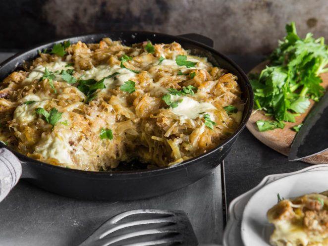 Zwiebelsuppe mal anders: Französischer Zwiebel-Brot-Auflauf
