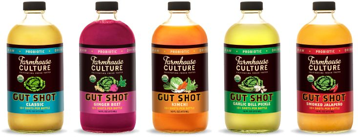 Farmhouse Culture Gut Shot is a probiotic rich beverage with a bold, savory taste. We make Gut Shot by fermenting organic veggies and then pressing them to release all the vibrant juices brimming with live active cultures. Gut Shot is a convenient way to help keep your gut healthy and well balanced.--SHOOT IT OR SIP IT; --ADD TO SALAD DRESSINGS; --BOOST SMOOTHIES.