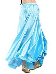 Danza del Vientre Faldas Mujer Entrenamiento Satinado 1 Pieza Cintura Media Falda