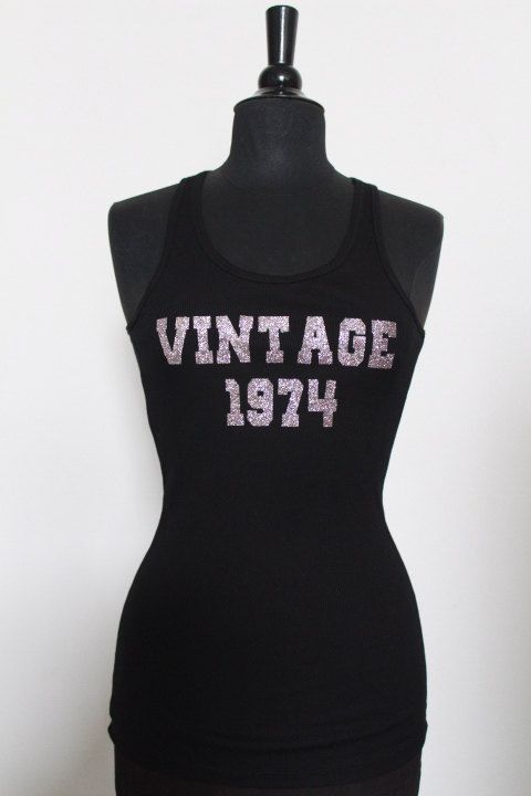 Personalized Birthday Gift 40th Birthday Shirt Vintage 1974 Birthday outfit Plus size Birthday Girl S-3XL on Etsy, $14.00