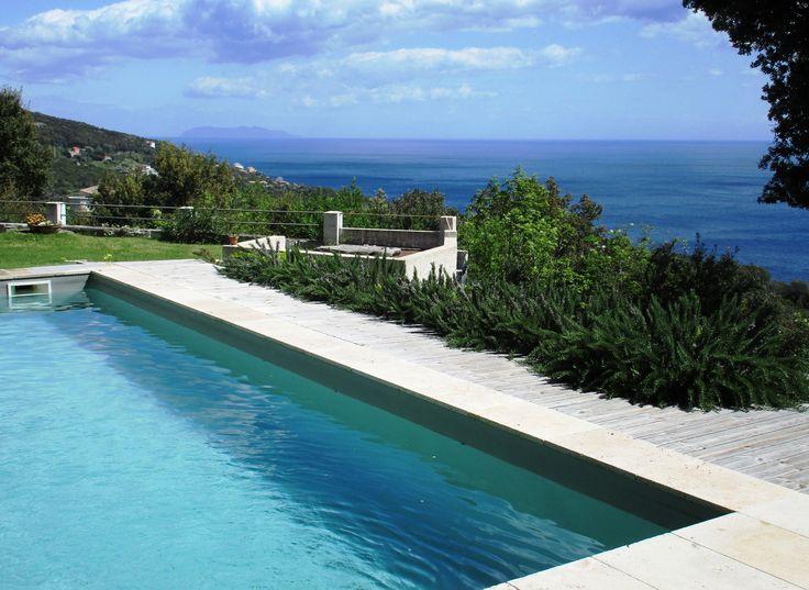 vue piscine Villa Elisabeth maison d'hôtes Erbalunga Cap