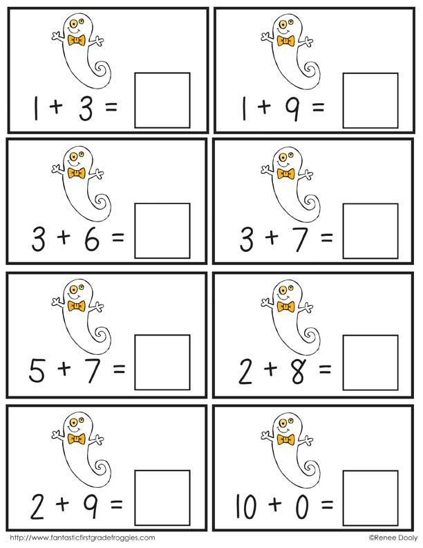 Halloween Math Center Fun