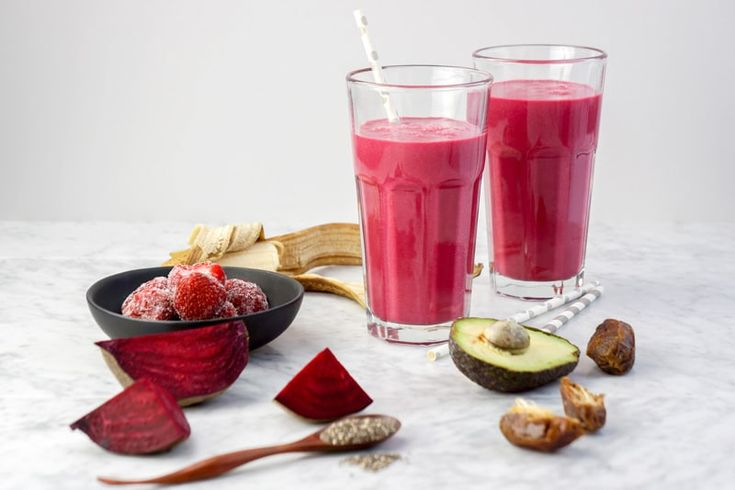 """A simple but delicious dairy-free """"Heart Beet Smoothie"""" with Strawberries, packed with tasty nutrition. Perfect for the whole family!"""