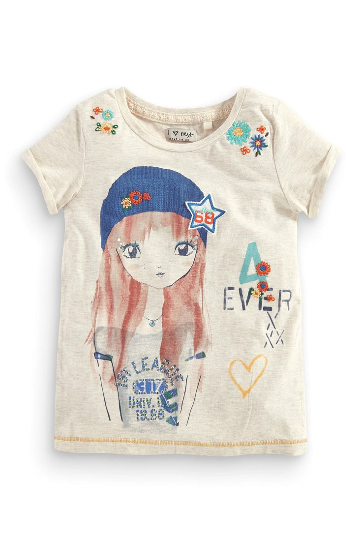 Buy Ecru Girl T-Shirt (3-16yrs) from the Next UK online shop