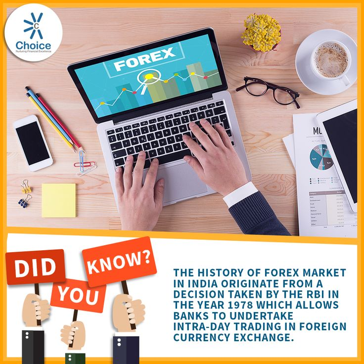 #ChoiceBroking #Trivia - The history of FOREX market in India originate from a decision taken by the RBI in the year 1978 which allows banks to undertake intra-day trading in foreign currency exchange.