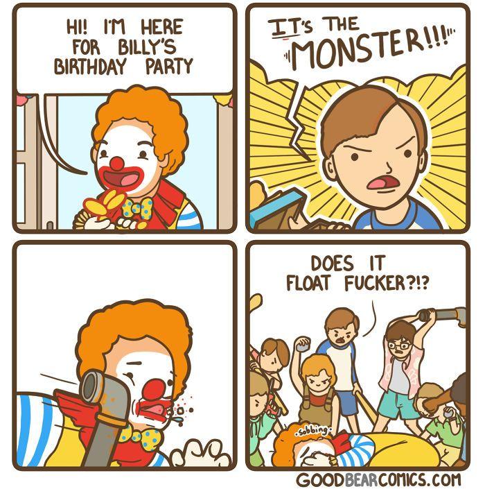 Good Bear Comics Funny Comics Comics Dark Humour Memes