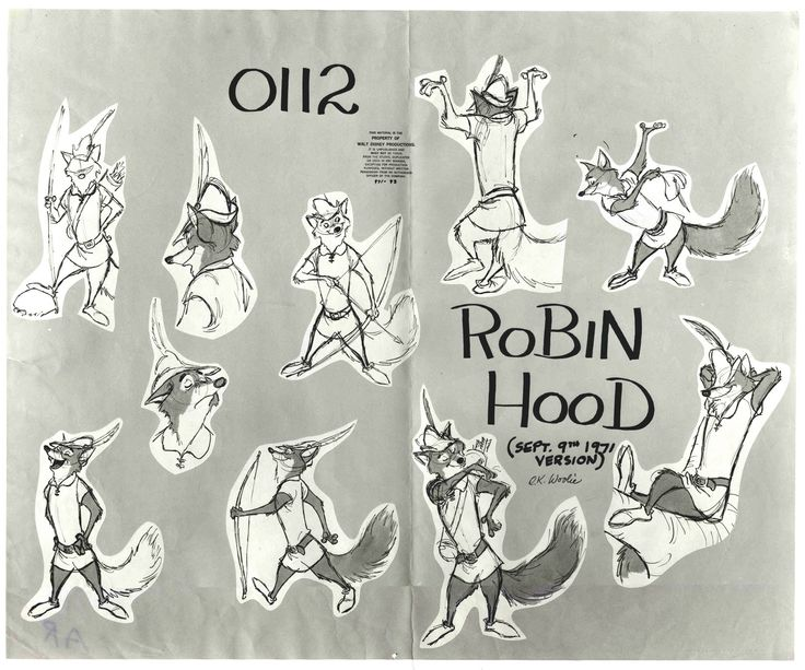 "Academy of Art Character and Creature Design Notes: A study in anthropomorphism: Disney's ""Robin Hood"""