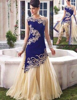 Royal Blue Designer Anarkali Suit For Wedding Wear