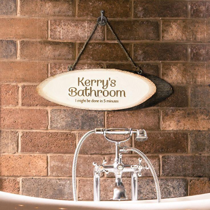 Your Bathroom Wooden Sign - Bathroom Gift - Bathroom Decor by KiddiClub on Etsy