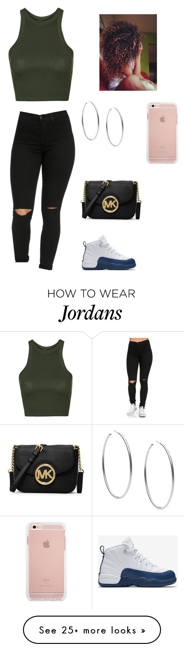 """Untitled #111"" by ivymichele on Polyvore featuring Topshop, NIKE, Michael Kors and MICHAEL Michael Kors"