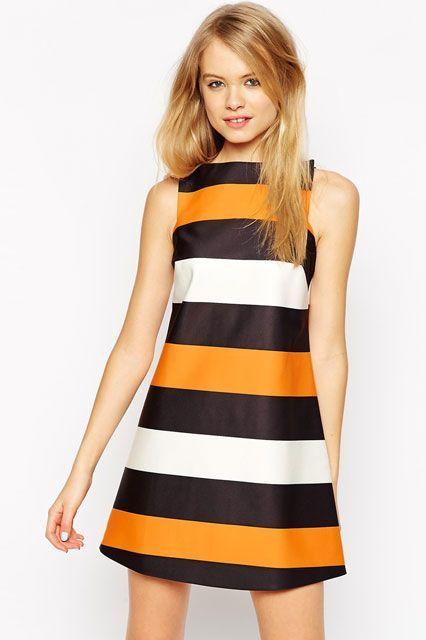 The Summer Dress That Looks Good On Everyone #refinery29  http://www.refinery29.com/flattering-shift-dresses#slide-7  Feeling those '70s stripes.
