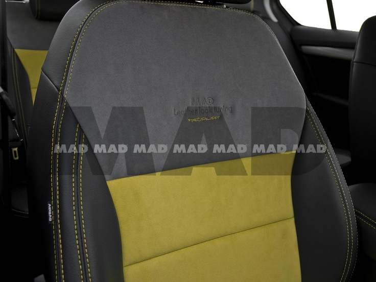 Alcantara® yellow + Alcantara® nimbus + Leather Look anthrazit
