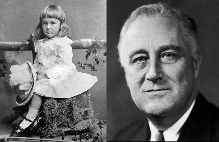 This is supposedly FDR. Children's clothes were said to be unisex back then.