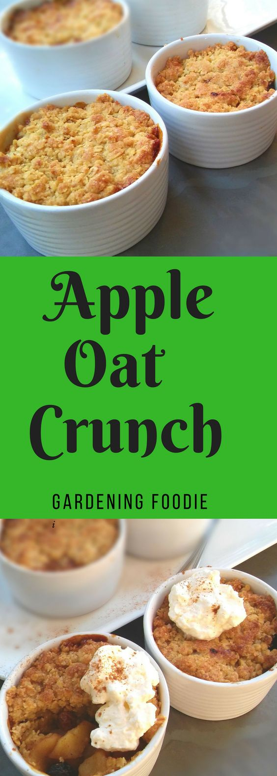Don't you just love easy to prepare breakfasts and desserts? Like with this Apple Oat Crunch which takes just 5 minutes to prepare and 10 minutes in the oven to create a crunchy golden brown topping. It really makes an amazingly quick dessert or breakfast to prepare.