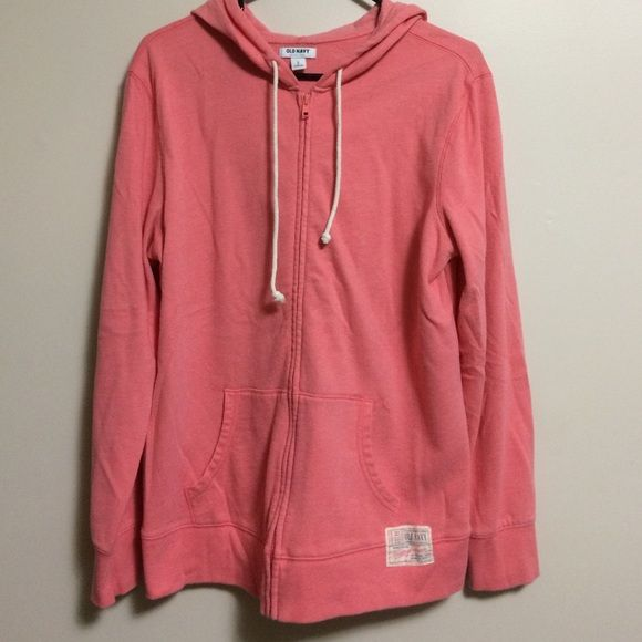 Old Navy Zip Up Hoodie Like new condition, only worn a few times. Size L. Tag says 60% cotton and 40% polyester. Old Navy Tops Sweatshirts & Hoodies
