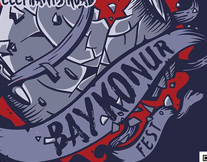 "Check out new work on my @Behance portfolio: ""Poster Baykonur Fest 2015"" http://on.be.net/1NjC2ZD"