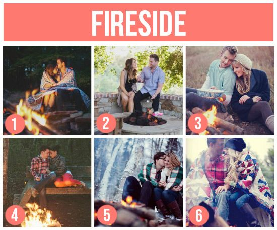 101 Tips and Ideas for Couples Photography  (We have a fire pit in our backyard! We could totally make this work!)