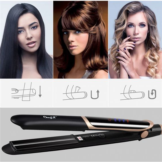 C Keyin Hair Flat Negative Ion Ion Infrared Straightening Curling Hair Straightener And Curler Professional Hair Straightener Flat Iron Hair Styles