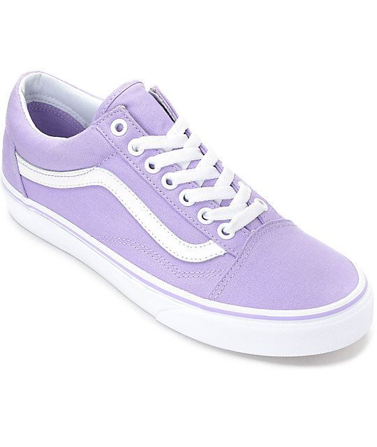 b3b0b56021 Vans Old Skool Lavender   White Canvas Shoes