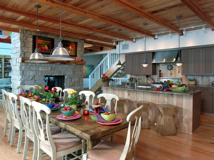 Backsplash Material Ideas Part - 40: Designer Susan Fredman Used Boards Of Sugar Maple Wood To Create A Unique  And Rustic Backsplash. Love The Fun Colorful Design In This Room