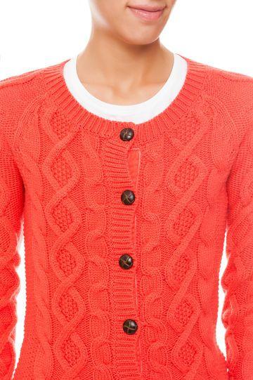 Cardigan tricot, Rosso aragosta, hi-res