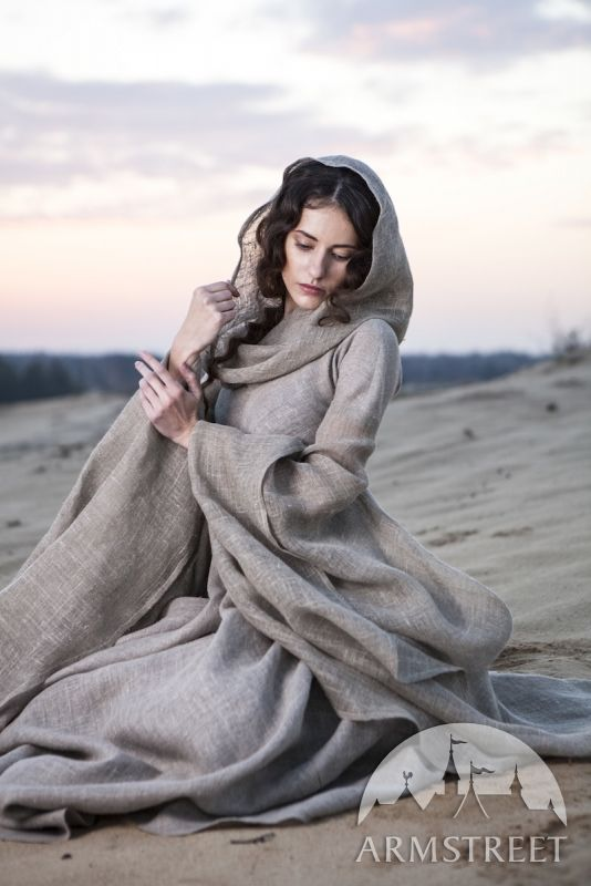 "Medieval Linen Fantasy Dress Robe ""Wanderer"" :: by medieval store ArmStreet"