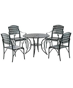 @Overstock - Add casual style to your patio with this diamond lattice iron game group set  Five-piece set includes one table and four chairs  Patio furniture features a diamond lattice patternhttp://www.overstock.com/Home-Garden/Diamond-Lattice-5-piece-Iron-Game-Group-Set/2084310/product.html?CID=214117 $492.99
