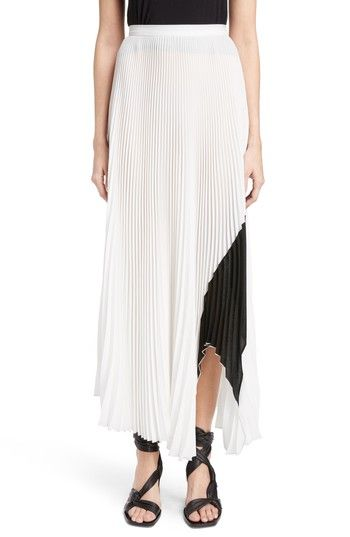 Free shipping and returns on Proenza Schouler Arched Hem Pleated Crepe Gauze Skirt at Nordstrom.com. Contrasting color undulates across this accordion-pleated crepe skirt, echoing the curvilinear cut and swooping movement of the arched hemline.