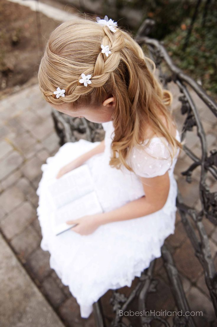 Baptism Hairstyle from BabesInHairland.com #hair #frenchbraid #baptism #lds #mormon