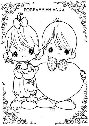 vintage valentine coloring pages - photo#34