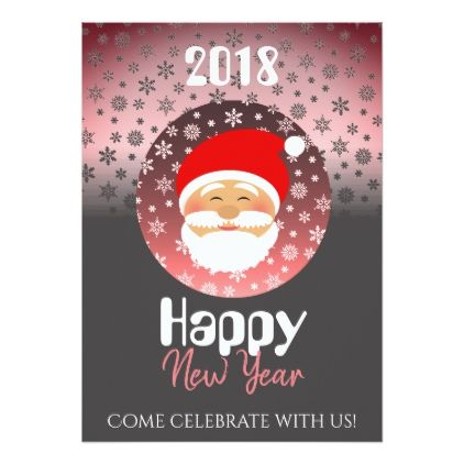 New Year's Party Home Santa Cartoon Beautiful Chic Card - Xmascards ChristmasEve Christmas Eve Christmas merry xmas family holy kids gifts holidays Santa cards