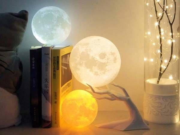 3d Printed Moon Led Mood Lamp Gadgetsin Mood Lamps Lamp Mood Light
