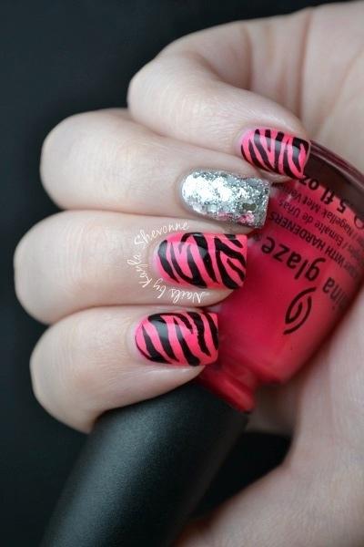 Nails by Kayla Shevonne: Zebra Bling Nails