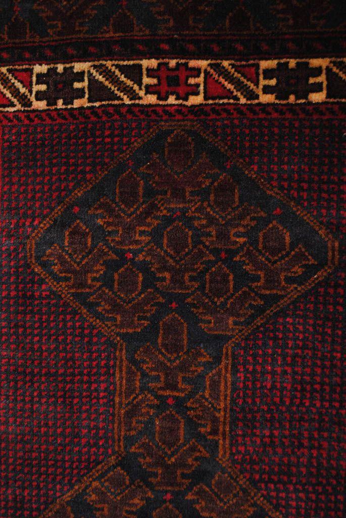 Handmade Woolen rug area BELUTCH 0,91x 1,50 cm  ( part of carpet) | ioakeimidis