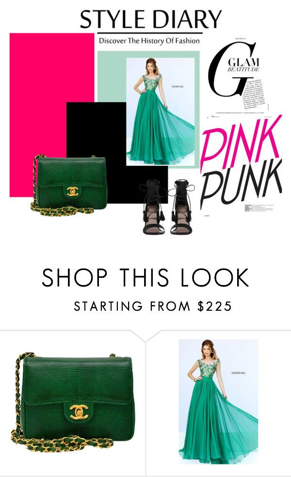 """""""Long Sleeved Sherri Hill 11214 Emerald Homecoming Dress"""" by rixepisyzavo ❤ liked on Polyvore featuring Chanel, Sherri Hill, Zimmermann, dress and Homecoming"""