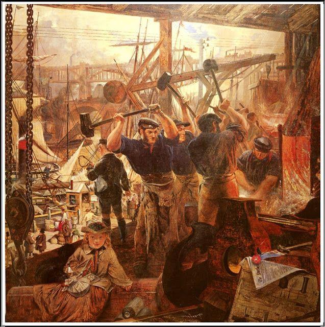 William Bell Scott (1811-1890),  Iron and Coal - 1861
