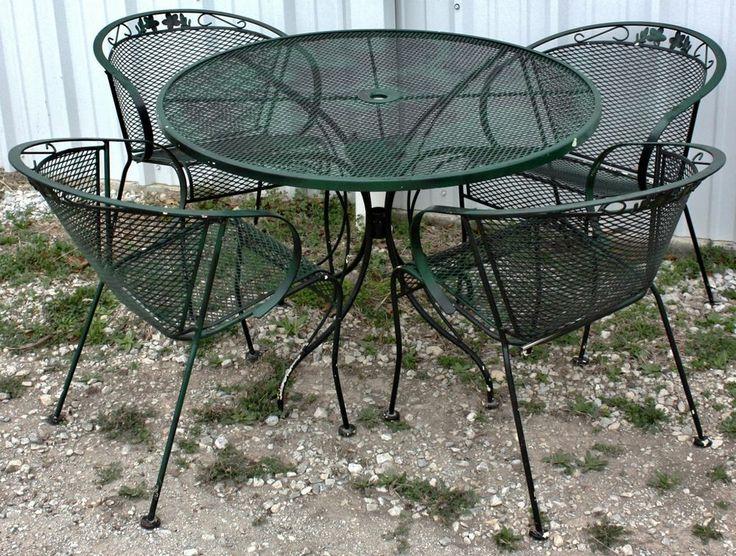 Exellent Salterini Outdoor Furniture 4 Pc Set Of Midcentury Modern Woodard  257938209 Inside Inspiration Decorating