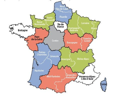 Alsace, Champagne-Ardenne and Lorraine have now merged as of 1January 2016                           ..www.thelocal.fr