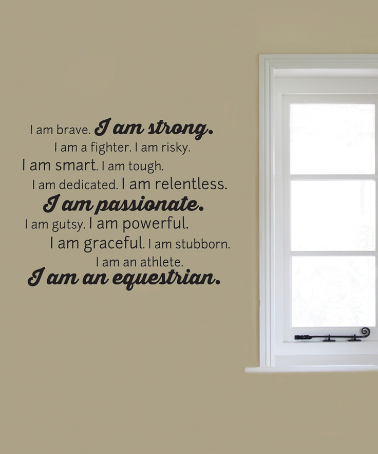 'I am an Equestrian'  - another Elijah quote